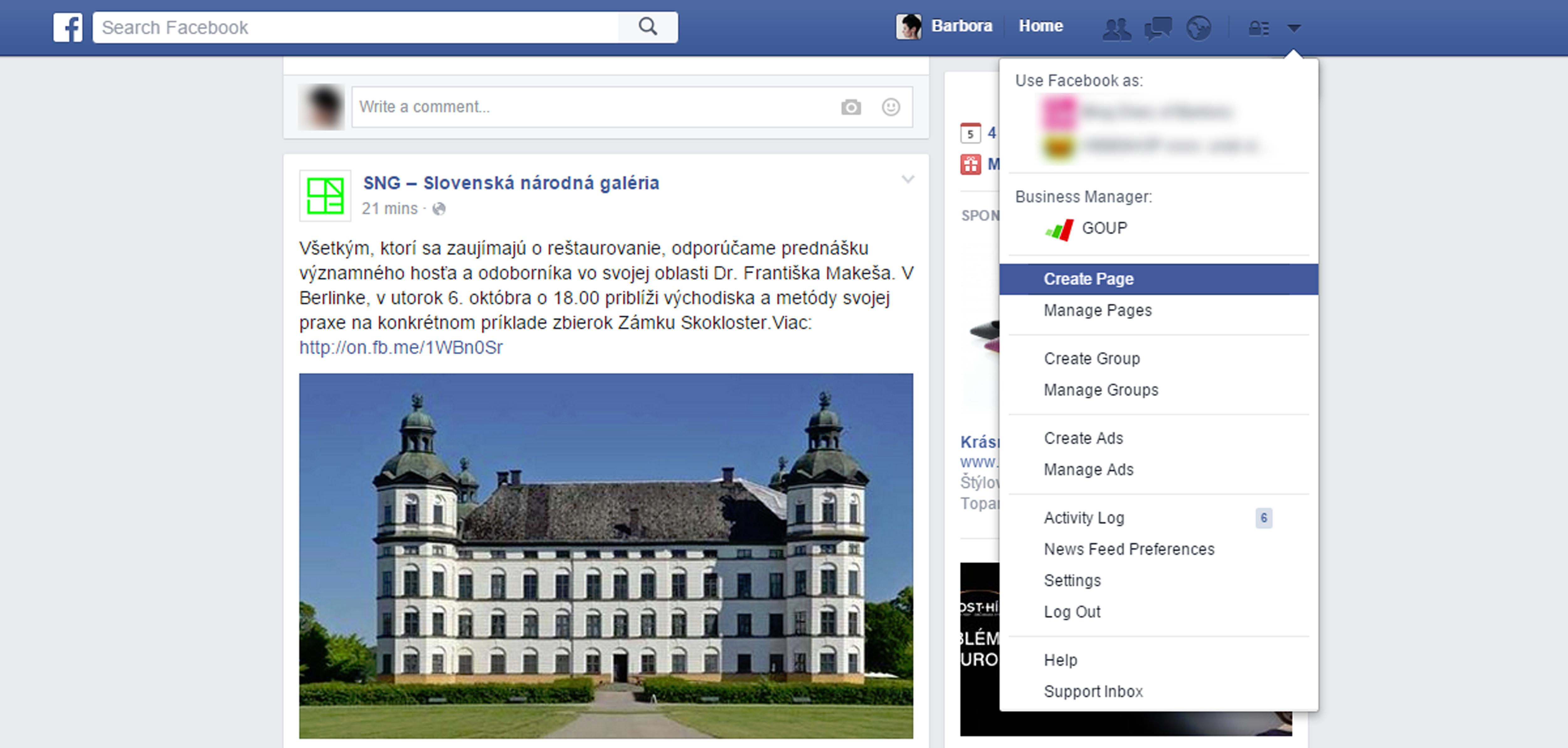 facebook stranka 1