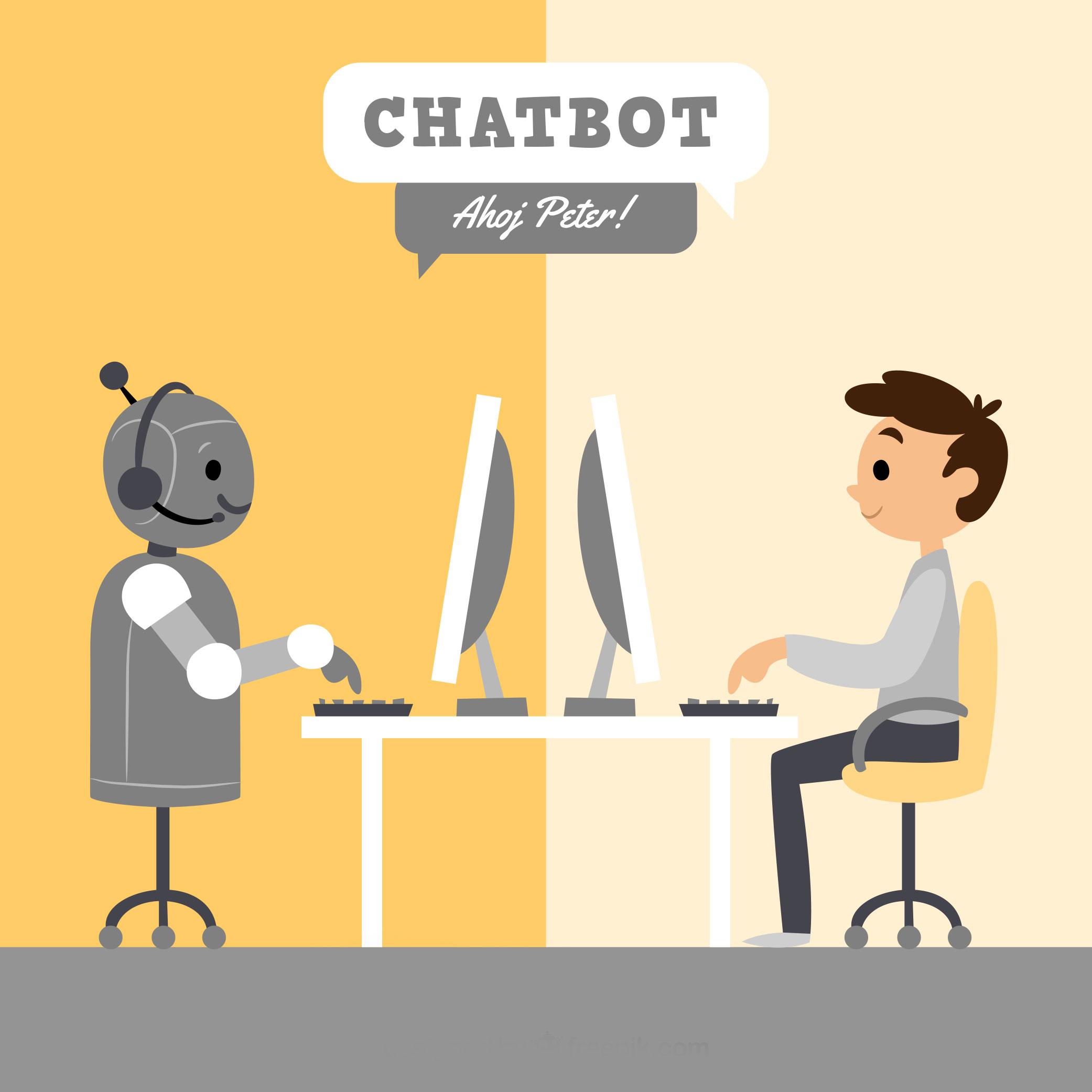 komunikácia s chatbotom
