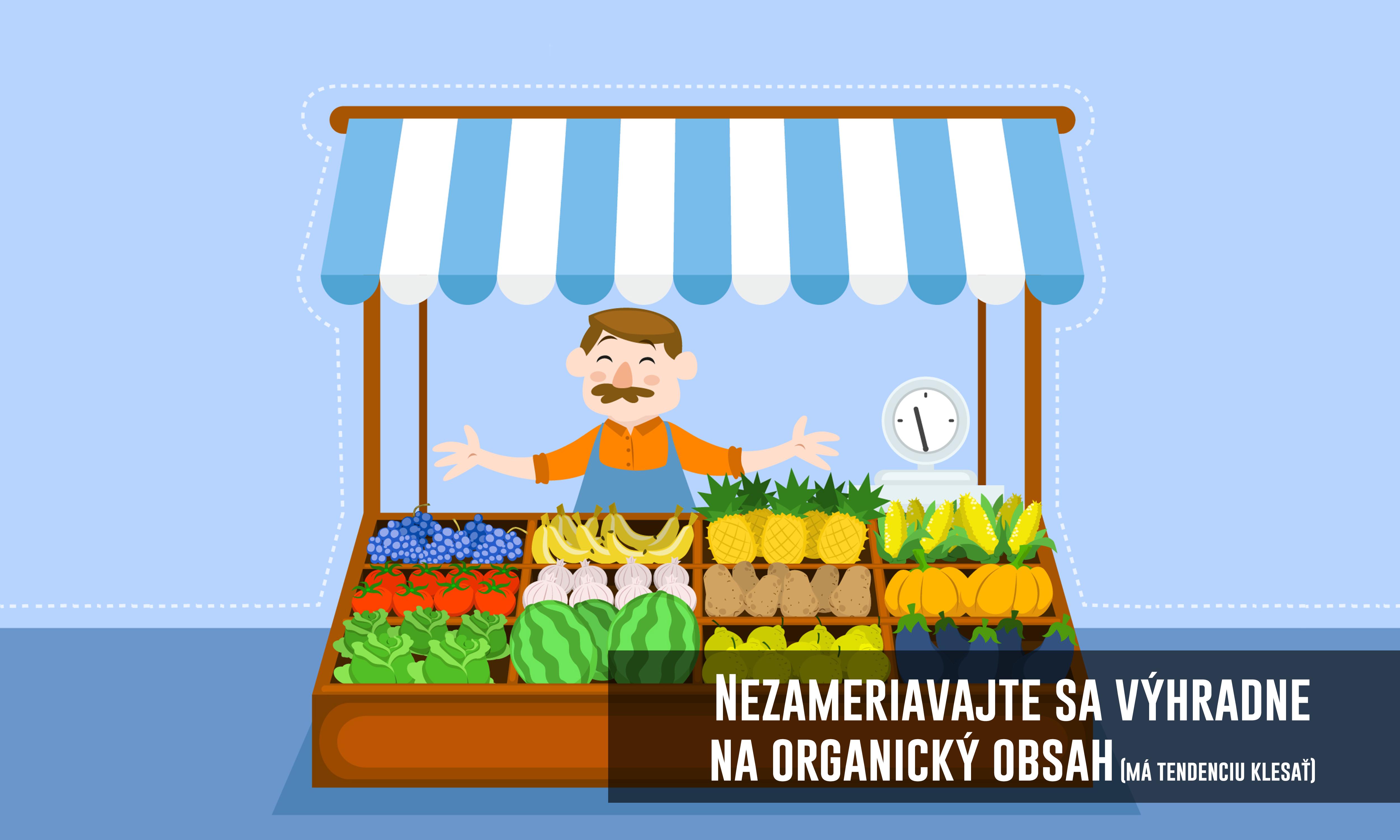 organicky dosah klesa