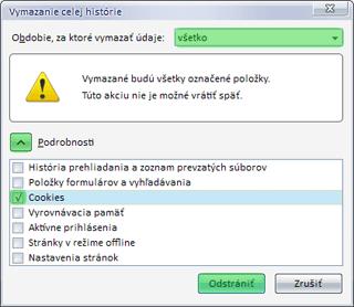 Ako vymazať cookies vo Firefoxe