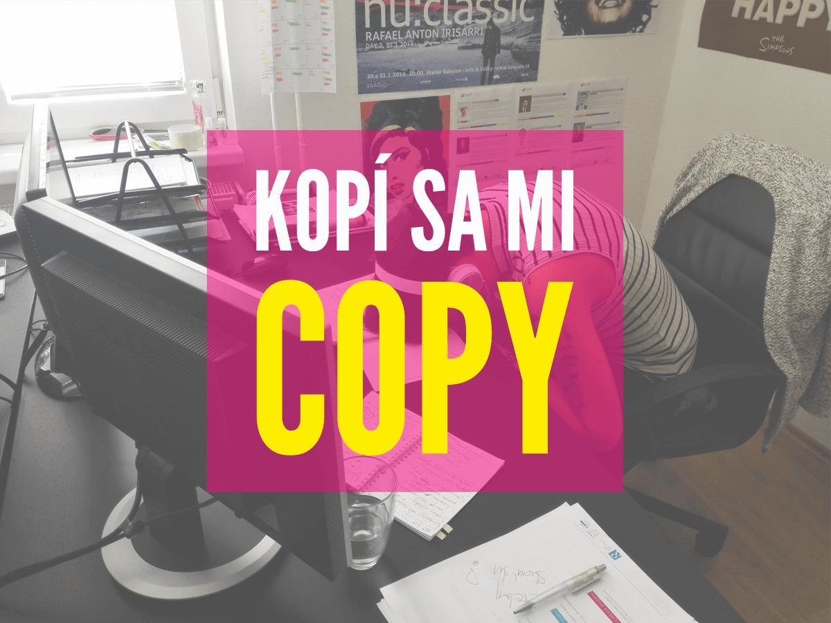 Ty chceš byť copywriter a my chceme stážistu!
